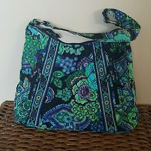 VERA BRADLEY Blue Rhapsody floral shoulder bag